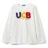 Benetton majica DR 3096C14QR D bela L