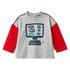 Benetton majica DR 3I1XC14RH F siva 82