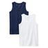 Benetton spodnja majica 2 kos NOS 3MC10H014 F modra t 90