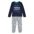 Benetton pižama DR 3I8X0P29D F modra t EL